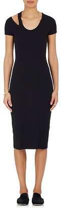 Helmut Lang Women's Cutout Jersey Midi-Dress $265 thestylecure.com