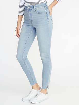 Old Navy High-Rise Built-In Warm Raw-Edge Rockstar Jeans for Women