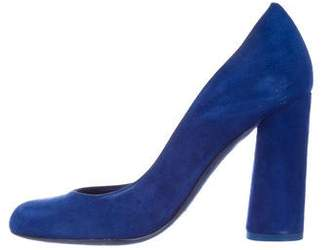 Christian Dior Suede Round-Toe Pumps