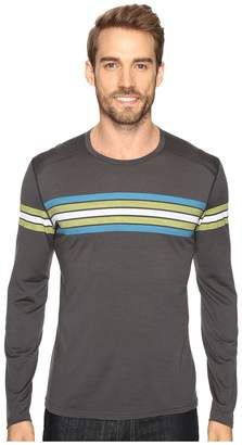 Icebreaker Oasis Long Sleeve Crewe Coronet Stripe Men's Clothing
