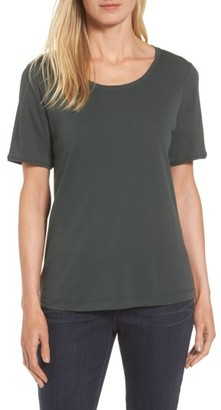 Women's Eileen Fisher Silk Tee $128 thestylecure.com