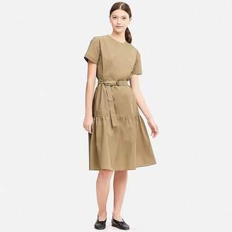 Uniqlo Women's Tiered Short-sleeve Dress