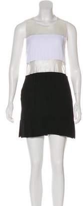 L'Agence Mesh-Paneled Colorblock Dress