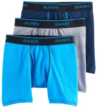 Hanes Boys 3-Pack Mesh Boxer Briefs