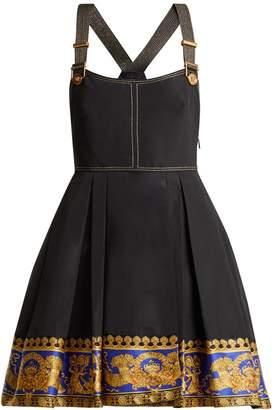Versace Printed-hem pinafore dress
