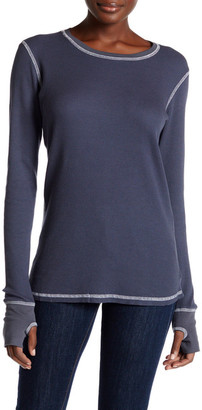 Allen Allen Thermal Knit Long Sleeve Tee $74 thestylecure.com