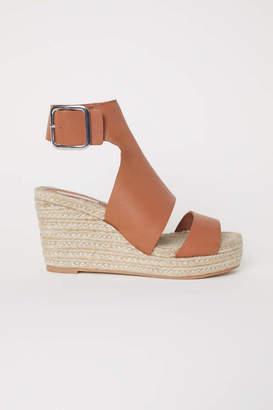 H&M Wedge-heel Sandals - Tawny brown - Women
