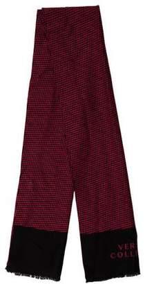 Versace Patterned Wool Scarf