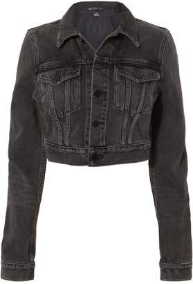 Alexander Wang Bare Cropped Black Denim Jacket