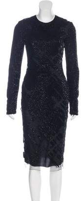 Thierry Mugler 2015 Embellished Midi Dress