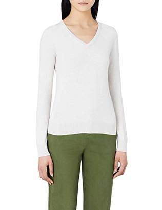 MERAKI Women's Cotton V Neck Sweater
