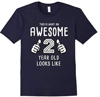 Awesome 2 Year Old Shirt - 2nd Birthday Shirt 2 Year Old Tee