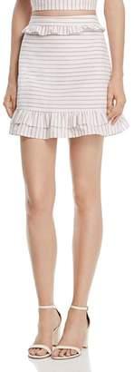 Aqua Ruffled Striped Skirt - 100% Exclusive