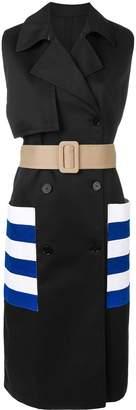 MSGM sleeveless trench coat