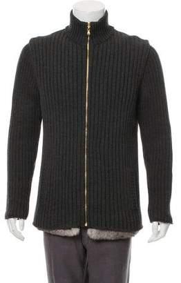 Dolce & Gabbana Fur-Trimmed Cardigan