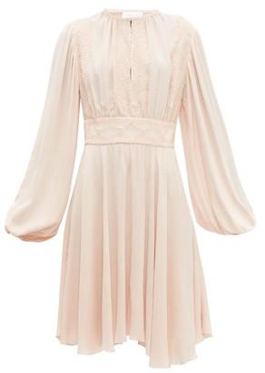 Giambattista Valli Balloon Sleeve Crepe Dress - Womens - Light Pink