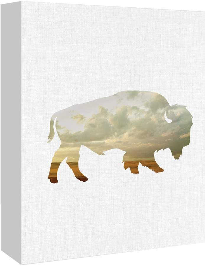 Americanflat Bison and Plains by Annie Bailey (Canvas)