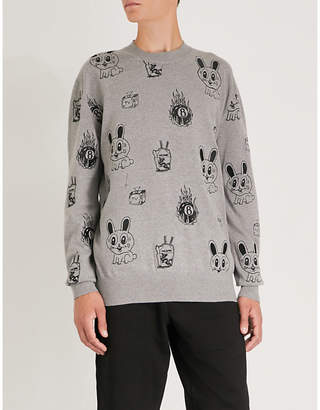 McQ Acid Bunny printed cotton-blend jumper