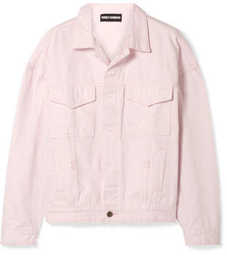 Double Rainbouu Oversized Denim Jacket - Pastel pink