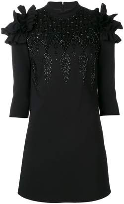 Elisabetta Franchi embroidered shift dress