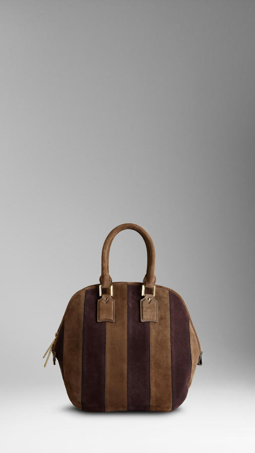The Medium Orchard in Suede Stripes