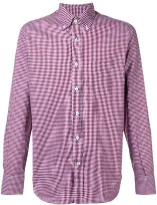 Canali button-down check shirt