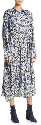 Christian Wijnants Dabba Floral-Print Button-Front Shirtdress