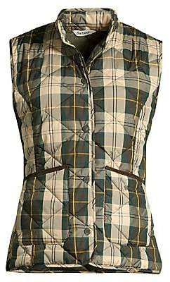 Barbour Women's Modern Country Hartan Quilted Plaid Vest
