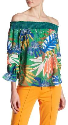 Flying Tomato Tropical Off-the-Shoulder Blouse