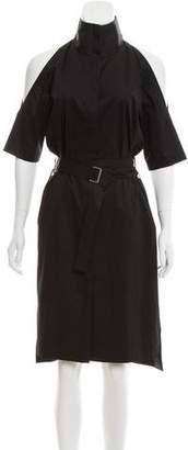 DKNY Cold-Shoulder Shirt Dress