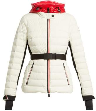 Moncler Bruche Hooded Down Filled Jacket - Womens - White