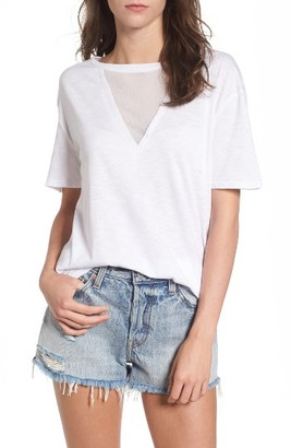 Women's Socialite Andrea Mesh Inset Tee $32 thestylecure.com