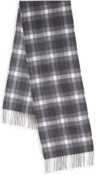 Boxed Plaid Cashmere Scarf