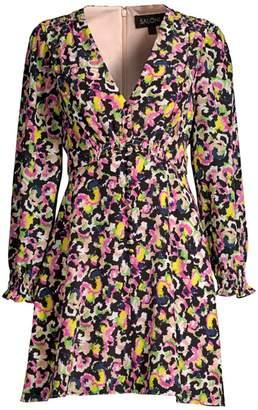 Saloni Eve Mini Silk A-Line Dress