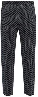 Gucci Logo Jacquard Cotton Track Pants - Mens - Navy Multi