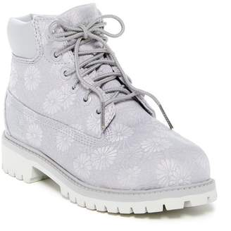 Timberland Grey Floral Classic Boot (Little Kid)