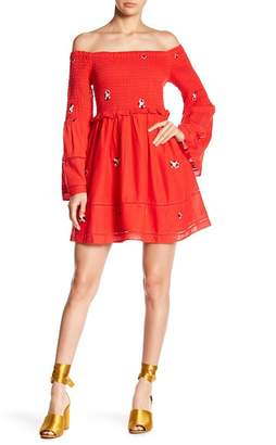Free People Counting Daisies Off-the-Shoulder Dress