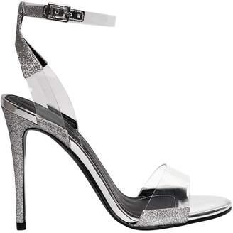 KENDALL + KYLIE 110mm Enya Glitter & Plexi Sandals
