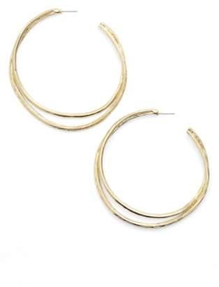 Karine Sultan Split Hoop Earrings