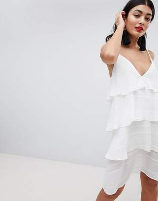 PrettyLittleThing Tiered Cami Mini Dress