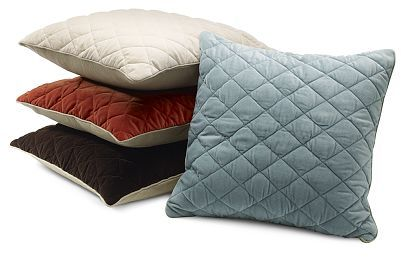 Quilted Velvet Canvas Pillow