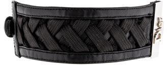 Christian Dior Christian Dior Woven Leather Bracelet