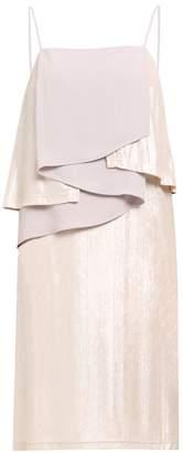 PAISIE - Spaghetti Strap Cocktail Dress With Metallic Layers