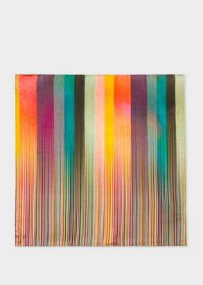 Paul Smith Men's Mixed-Stripe Silk Pocket Square