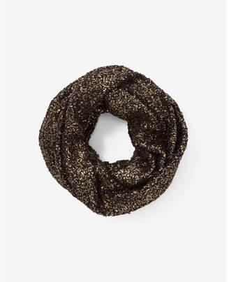 Express metallic popcorn loop scarf