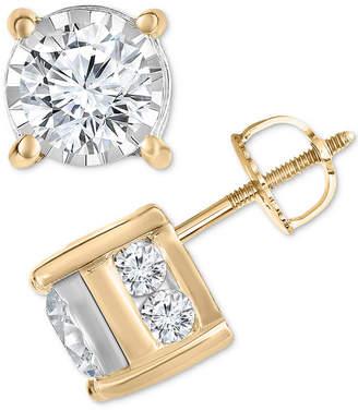 Trumiracle Diamond Layered Stud Earrings (1-1/2 ct. t.w.)