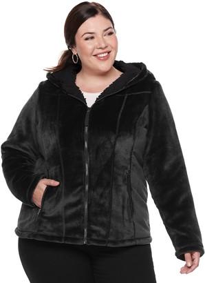 Plus Size Weathercast Hooded Fleece Jacket