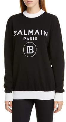Balmain Logo Wool & Cashmere Sweater