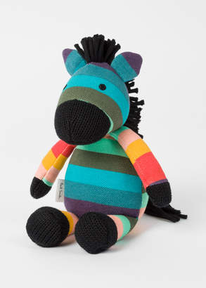 Paul Smith Babies' Cotton 'Artist Stripe Zebra' Soft Toy