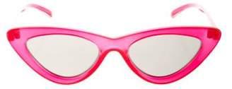 Le Specs Adam Selman x Cat-Eye Acetate Sunglasses